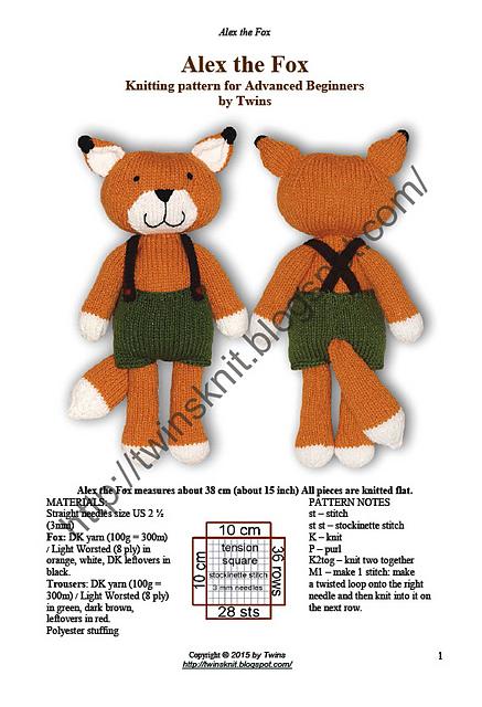 Ravelry Alex The Fox Pattern By Ala Ela