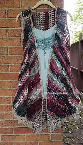 Ravelry Groovy Long Hippie Vest Pattern By Sharon Kay