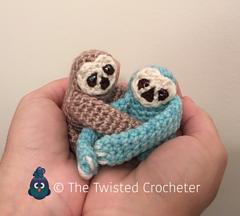 Free Amigurumi Sloth Pattern : Ravelry: Amigurumi Baby Sloth pattern by The Twisted Crocheter
