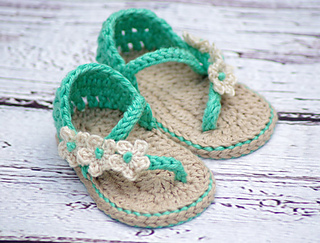 Ravelry Carefree Baby Sandals Pattern By Lorin Jean