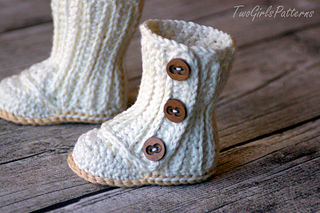 Ravelry Baby Wrap Boots Pattern By Lorin Jean