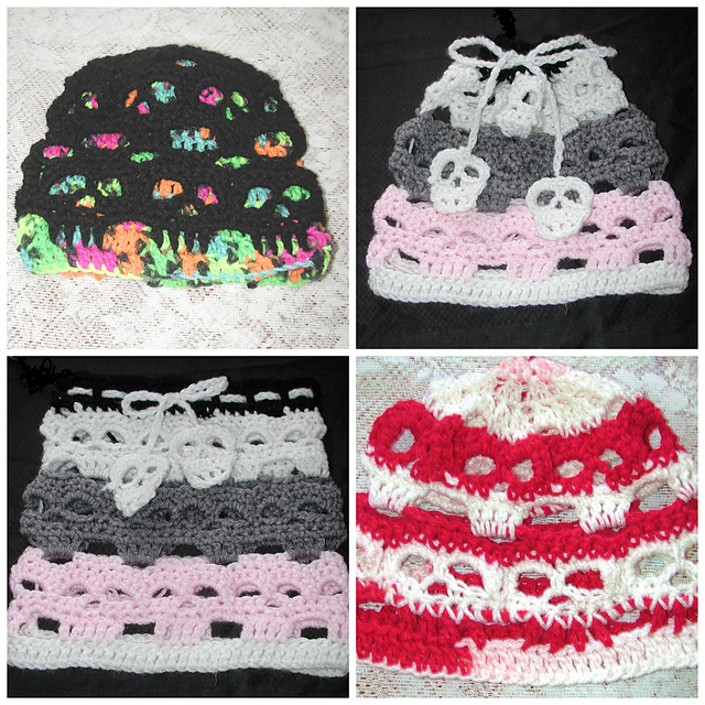 Ravelry  Creepy Skull Lined and Unlined Hat With Convertible Cowl ... ca8a5eb872f