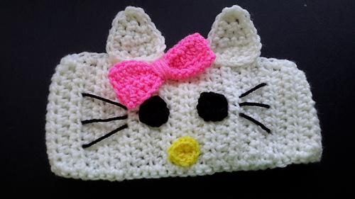 Ravelry Hello Kitty Earwarmer Headband Pattern By Tracy Woods
