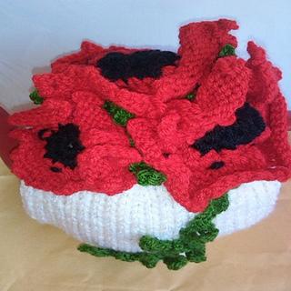 c6732f53d Ravelry  Poppy Flower Tea Cosy Knitting Pattern pattern by Pamela ...