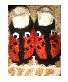 73710c95a Ravelry  Ladybird Baby Booties pattern by Pamela Lang