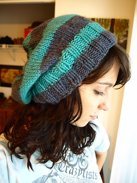 Ravelry My Striped Slouchy Hat Pattern By Christi Wasson