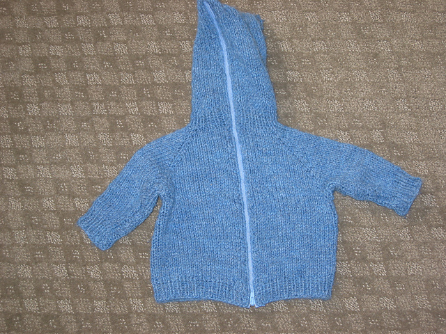 Ravelry Back Zipper Baby Sweater With Hood Pattern By Randy Chris