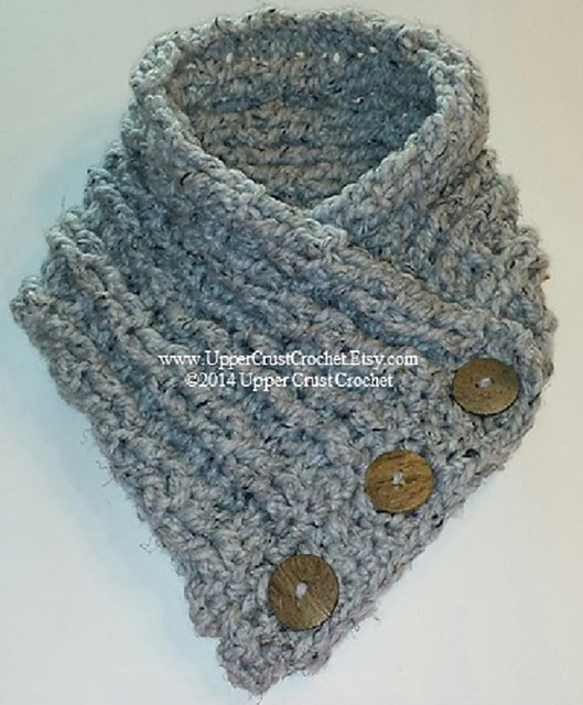 Ravelry: Side Button Cowl pattern by Upper Crust Crochet