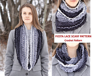 Fiesta Lace Scarf pattern by Valerie Baber