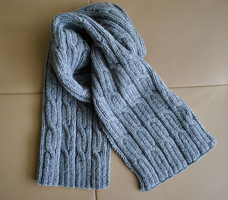 Ravelry Men S Scarf Cables Pattern By Valentina Georgieva