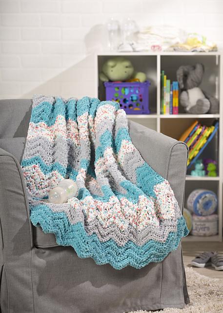 2e9c706d7879d Ravelry: Chevron Crochet Baby Blanket pattern by Premier Yarns ...