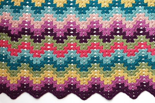 Ravelry Crochet For Knitters Granny Ripple Blanket Pattern By