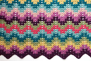 Ravelry Crochet For Knitters Granny Ripple Blanket Pattern By