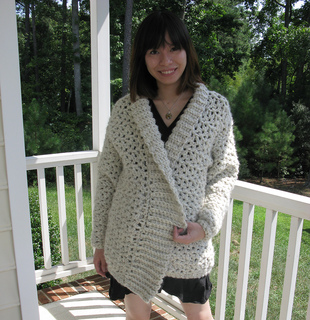 Ravelry: Whiter Shade of Pale Car Coat pattern by Lion Brand Yarn
