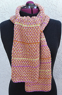 Ravelry: 3 Color Brioche Scarf pattern by Weasies Works
