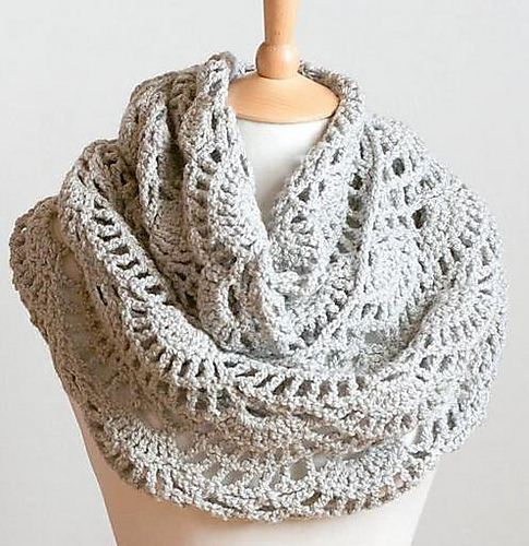 Ravelry Lacy Grey Cowl Pattern By Whisper Twister