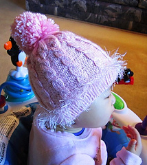 011804528591 Ravelry  Pink Cabled Baby Hat pattern by Christy Hills
