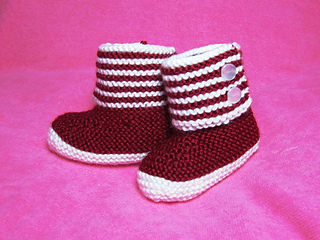 How_to_knit_boot_style_red_and_white_baby_booties_3_small2