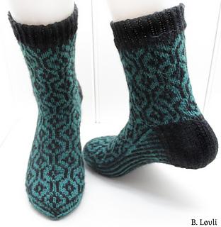 sokker med mønster