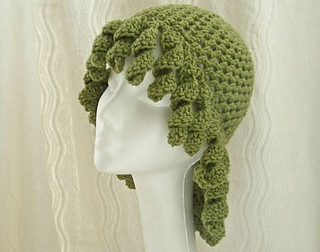 Ravelry ringlet hat wig fun chemo cap pattern by wild daffodil dt1010fo