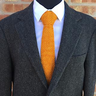 Ravelry Wakefield Men S Knit Tie Pattern By Briana K Designs