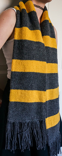 Newt Scamander S Hufflepuff Scarf Pattern By Jaime W Ravelry