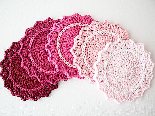 Ravelry Ombre Crocheted Coasters Pattern By Marinke Slump