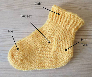Ravelry Training Sock Toe Up Dpns Pattern By Kate Atherley