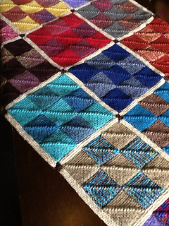 Free Knitting Pattern Mitered Afghan : Ravelry: Nine Patch Mitered Square Afghan pattern by Nancy ...