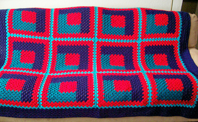 Ravelry Warm Cozy Log Cabin Afghan Quilt Pattern By D Goldoff