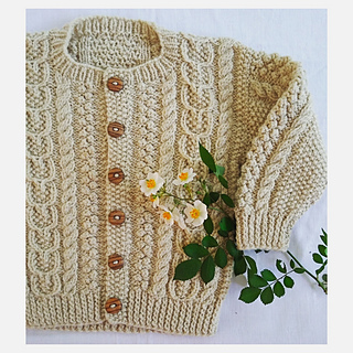 51234a3c9a Ravelry   19 Child s Aran Sweater pattern by Melinda Goodfellow