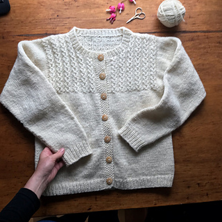 5322332628e #8 Women's Mock Cable Sweater pattern by Melinda Goodfellow